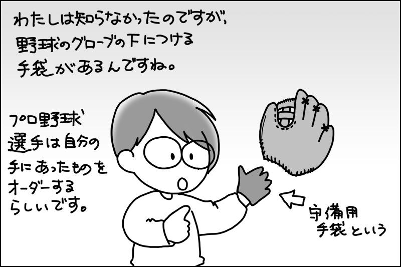 プロは守備用手袋をオーダーする
