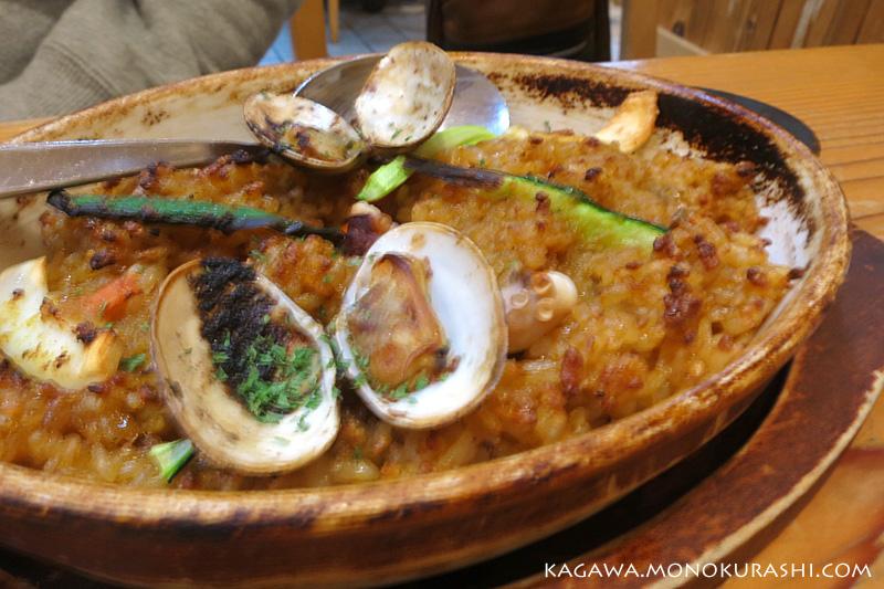 拉麺ひらりの「地中海ピラフ」