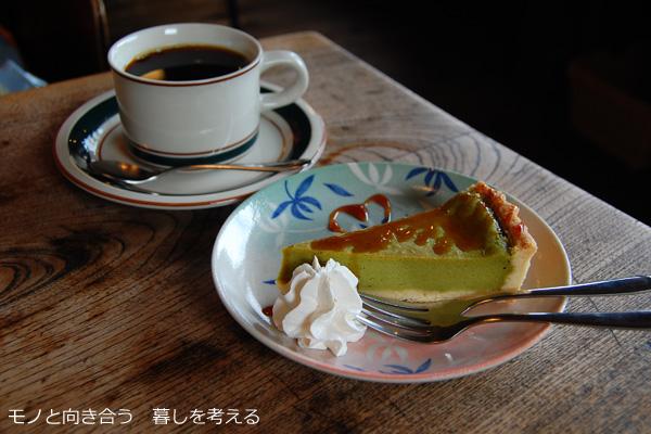 コーヒーと抹茶のチーズケーキ