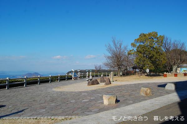 桃太郎茶屋前の景色