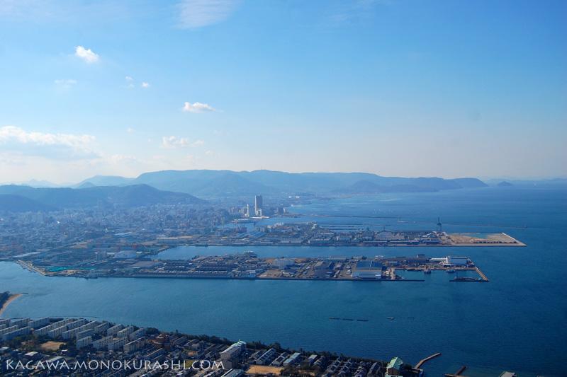 屋島山上、れいがん茶屋からの眺め